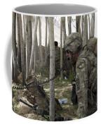 U.s. Army Soldier Communicates Possible Coffee Mug