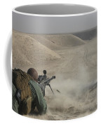 U.s. Army Soldier Fires A Barrett M82a1 Coffee Mug