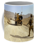 U.s. Army Soldier Moves To His Mrap Coffee Mug