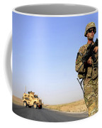 U.s. Army Soldier On Patrol Coffee Mug