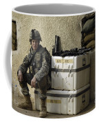 U.s. Army Soldier Relaxing Before Going Coffee Mug