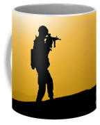 U.s. Army Soldier Secures An Area Coffee Mug