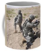 U.s. Army Soldier Sets Up A Satellite Coffee Mug