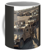 U.s. Army Soldier Speaks With Iraqi Coffee Mug by Stocktrek Images