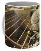 U.s. Army Soldier Takes A Gps Grid Coffee Mug by Stocktrek Images