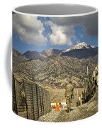 U.s. Army Soldier Walks Down A Path Coffee Mug by Stocktrek Images
