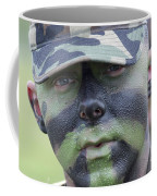 U.s. Army Soldier Wearing Camouflage Coffee Mug by Stocktrek Images
