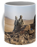 U.s. Army Soldiers At A Checkpoint Coffee Mug
