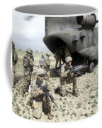 U.s. Army Soldiers Board A Ch-47 Coffee Mug