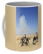 U.s. Army Soldiers Firing An M120 120mm Coffee Mug by Stocktrek Images