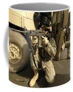 U.s. Army Soldiers Providing Overwatch Coffee Mug by Stocktrek Images