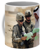 U.s. Army Soldiers Talking With A Town Coffee Mug by Stocktrek Images