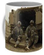 U.s. Army Soldiers Waiting At Patrol Coffee Mug