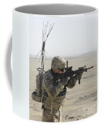 U.s. Army Specialist Scans His Area Coffee Mug