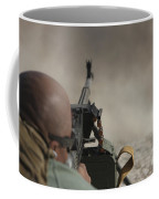 U.s. Contractor Firing The Pkm 7.62 Coffee Mug