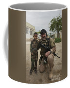 U.s. Contractor Poses For A Picture Coffee Mug