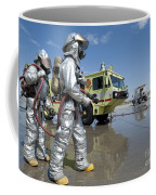 U.s. Marine Firefighters Stand Ready Coffee Mug