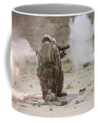 U.s. Marine Fires A Rocket-propelled Coffee Mug