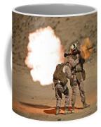 U.s. Marine Fires A Rpg-7 Grenade Coffee Mug by Terry Moore