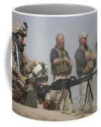 U.s. Marine Firing A Pk 7.62mm Machine Coffee Mug by Terry Moore