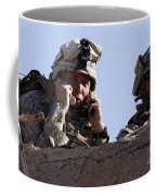U.s. Marine Gives Directions To Units Coffee Mug by Stocktrek Images