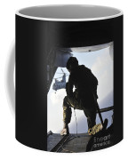 U.s. Marine Looks Out The Back Coffee Mug