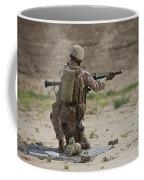 U.s. Marine Prepares A Fragmentation Coffee Mug