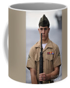 U.s. Marine Presents Arms During An Coffee Mug