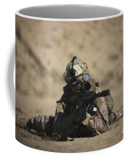U.s. Marine Sights In A Barrett M82a1 Coffee Mug
