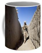 U.s. Marine Sweeps An Alleyway Coffee Mug