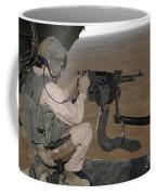 U.s. Marine Test Firing An M240 Heavy Coffee Mug