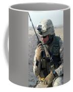 U.s. Marine Uses A Mbitr Anprc-148 Coffee Mug by Stocktrek Images