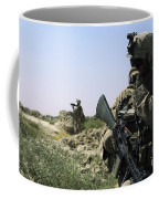 U.s. Marine Uses A Radio Coffee Mug