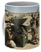 U.s. Marines Assemble A Satellite Dish Coffee Mug