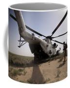 U.s. Marines Board A Ch-53d Sea Coffee Mug