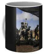 U.s. Marines Fire An M777 Howitzer Coffee Mug