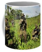 U.s. Marines Guard An Extraction Point Coffee Mug