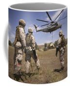 U.s. Marines Observe Ch-53e Super Coffee Mug