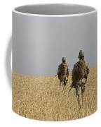 U.s. Marines Patrol A Wadi Near Kunduz Coffee Mug
