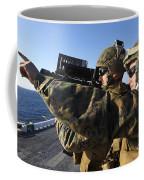 U.s. Marines Practice Firing Coffee Mug