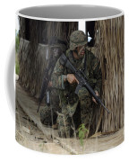 U.s. Marines Prepare To Enter A House Coffee Mug by Stocktrek Images