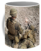 U.s. Marines Provide Suppressive Fire Coffee Mug
