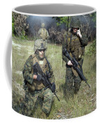 U.s. Marines Secure A Perimeter Coffee Mug