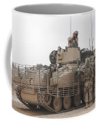 U.s. Marines Talk With A British Coffee Mug by Stocktrek Images