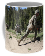 U.s. Marines Training At The Mountain Coffee Mug by Stocktrek Images