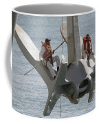 U.s. Navy Servicemen Apply A Coat Coffee Mug