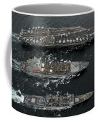 U.s. Navy Ships Conduct A Replenishment Coffee Mug