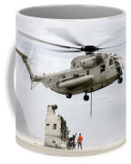 U.s. Sailors Assist A Ch-53d Sea Coffee Mug