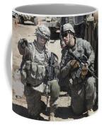 U.s. Soldiers Coordinate Security Coffee Mug by Stocktrek Images