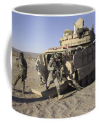 U.s. Soldiers Exit From An M2 Bradley Coffee Mug